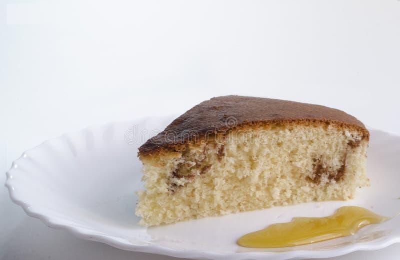 蛋糕用蜂蜜 库存照片