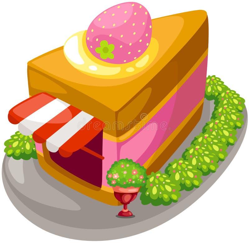 蛋糕界面 皇族释放例证