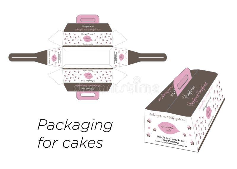 蛋糕的箱子 库存照片