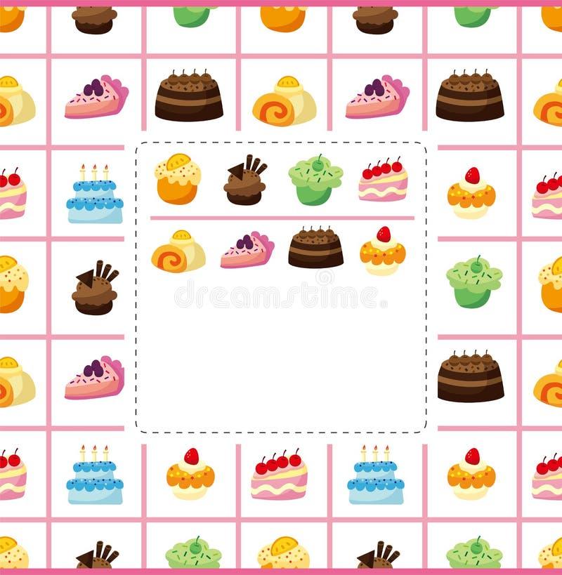 蛋糕看板卡 向量例证