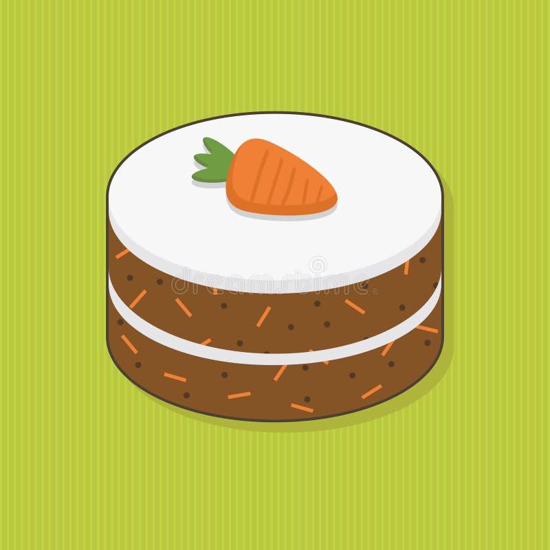 蛋糕红萝卜 向量例证