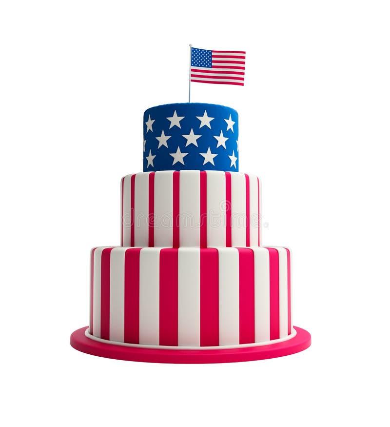 蛋糕美国 库存例证