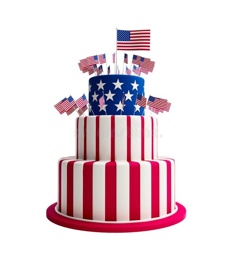 蛋糕美国 皇族释放例证