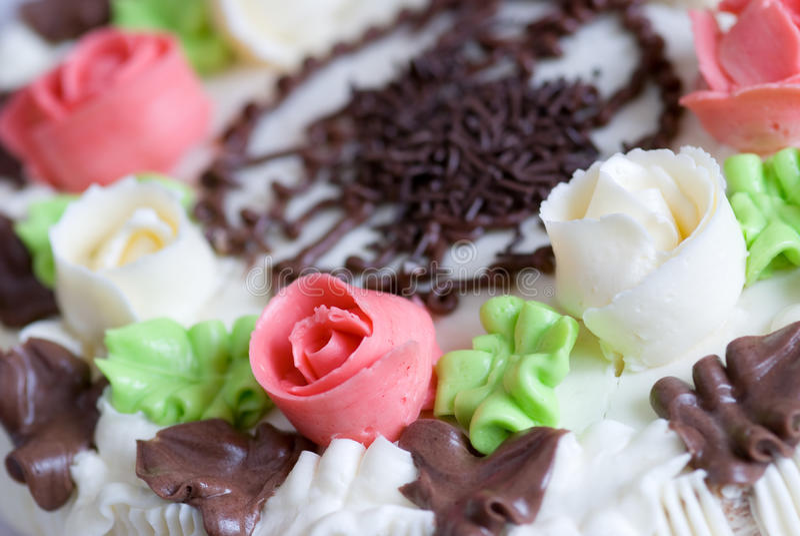 蛋糕花梢 图库摄影