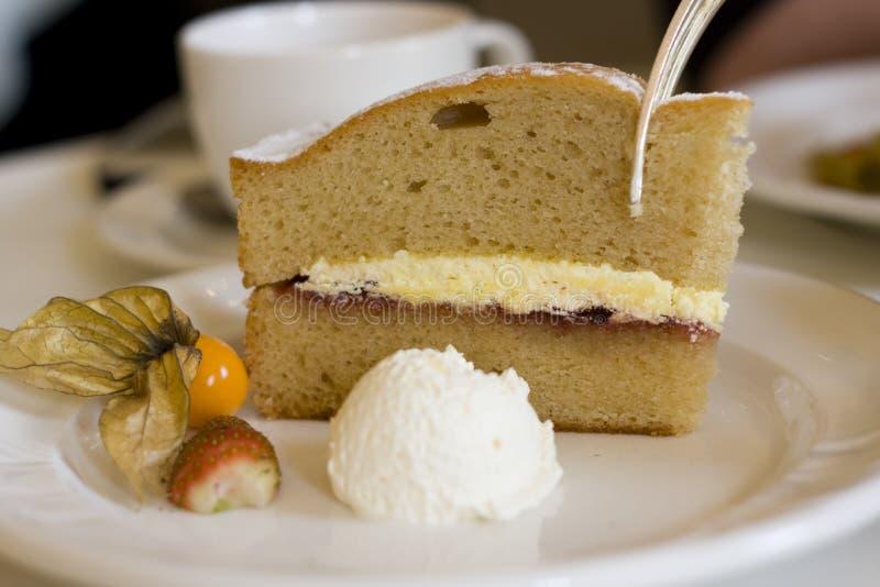 蛋糕茶 库存图片
