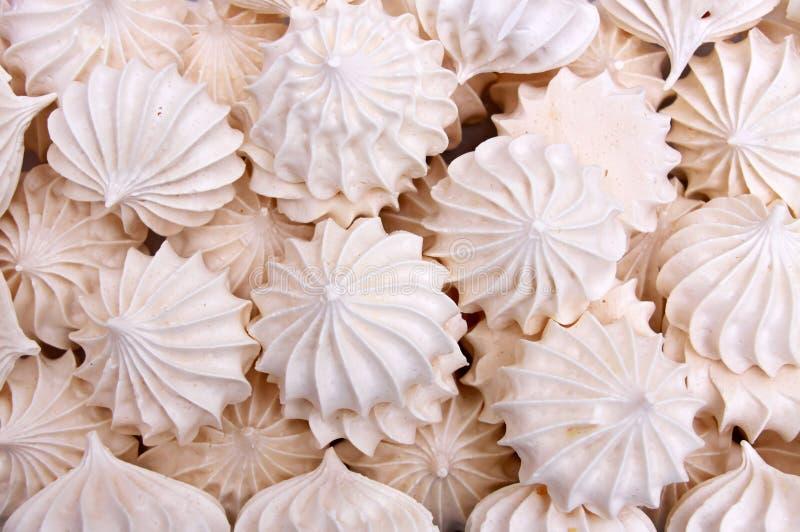 蛋糕蛋白甜饼 免版税库存图片