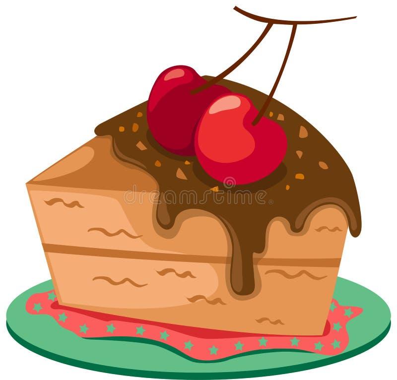 蛋糕部分 库存例证