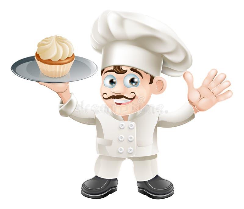 蛋糕面包师 库存例证