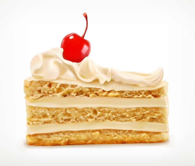 蛋糕,传染媒介象 向量例证
