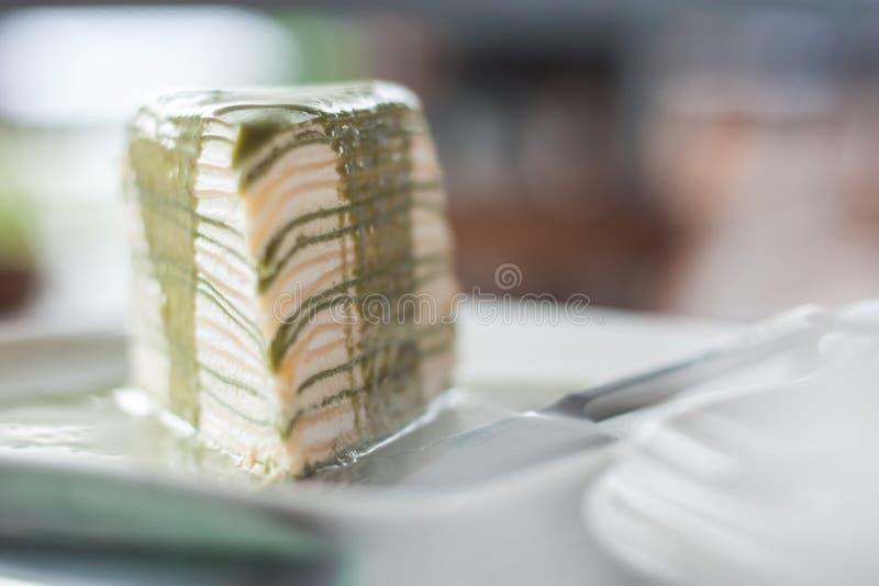 蛋糕绿色树 库存照片
