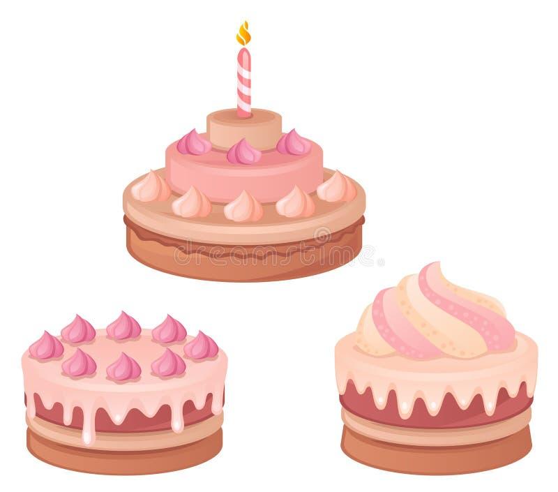 蛋糕 皇族释放例证