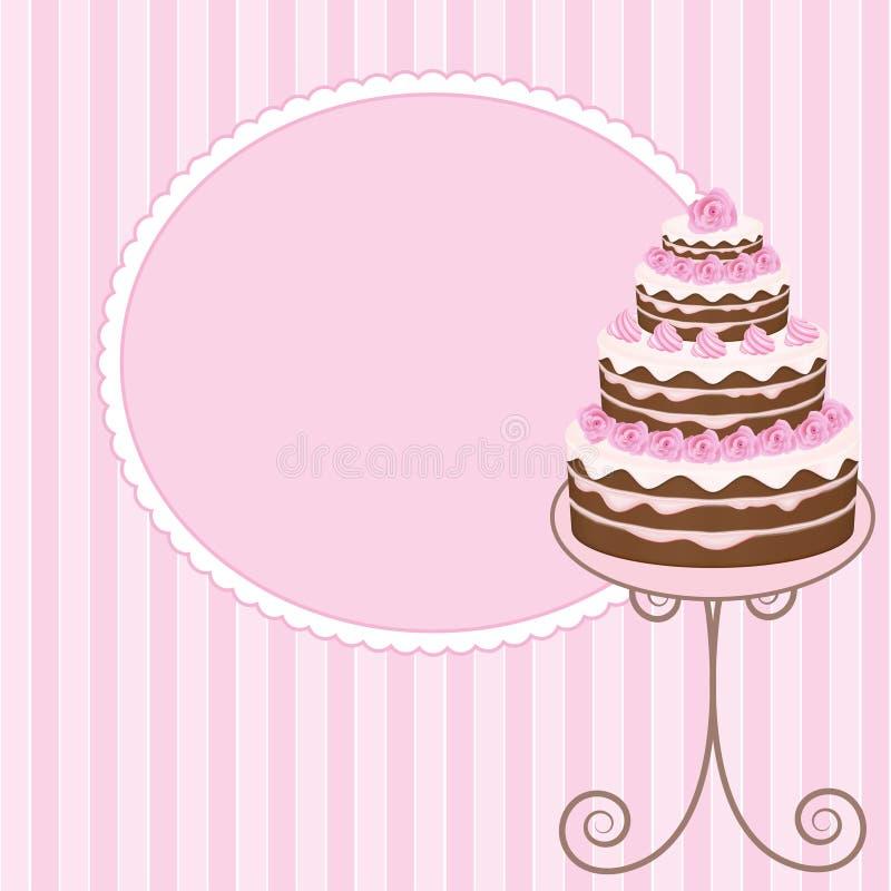 蛋糕 库存例证