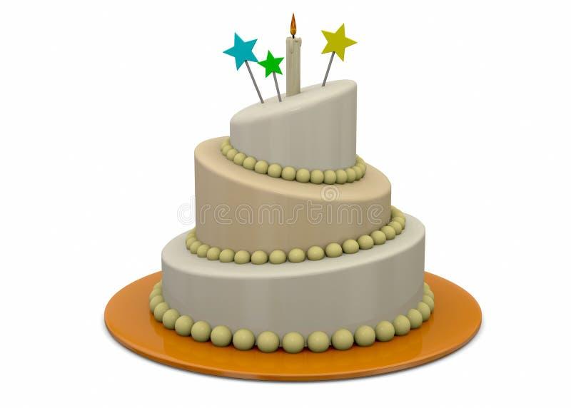 蛋糕- 3d 皇族释放例证