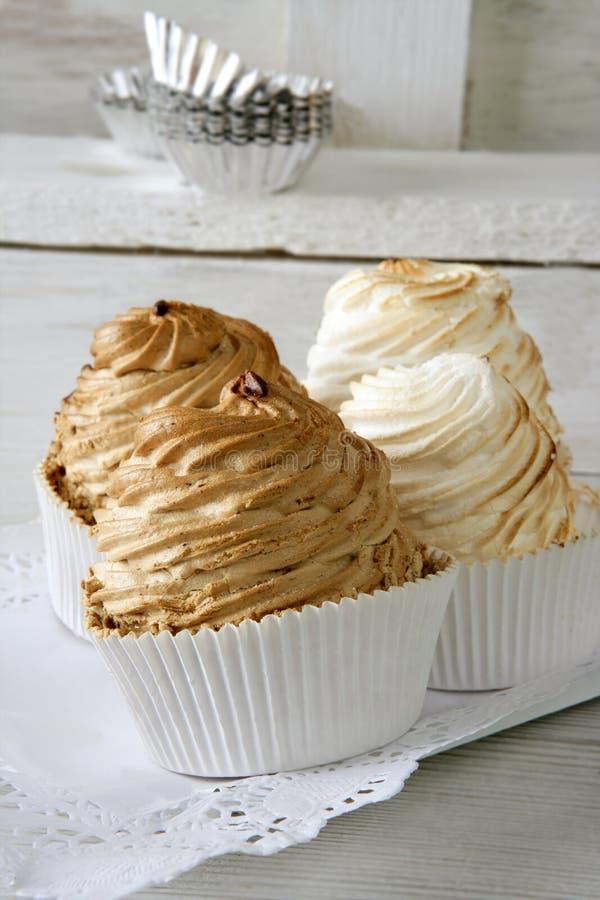 蛋蛋白甜饼饼甜白色 库存图片