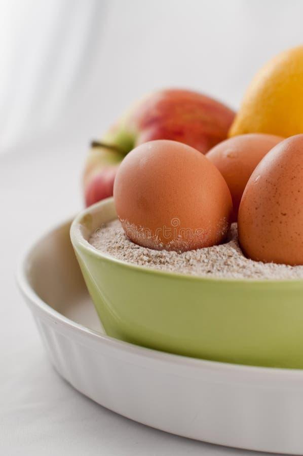 蛋面粉果子 免版税库存照片