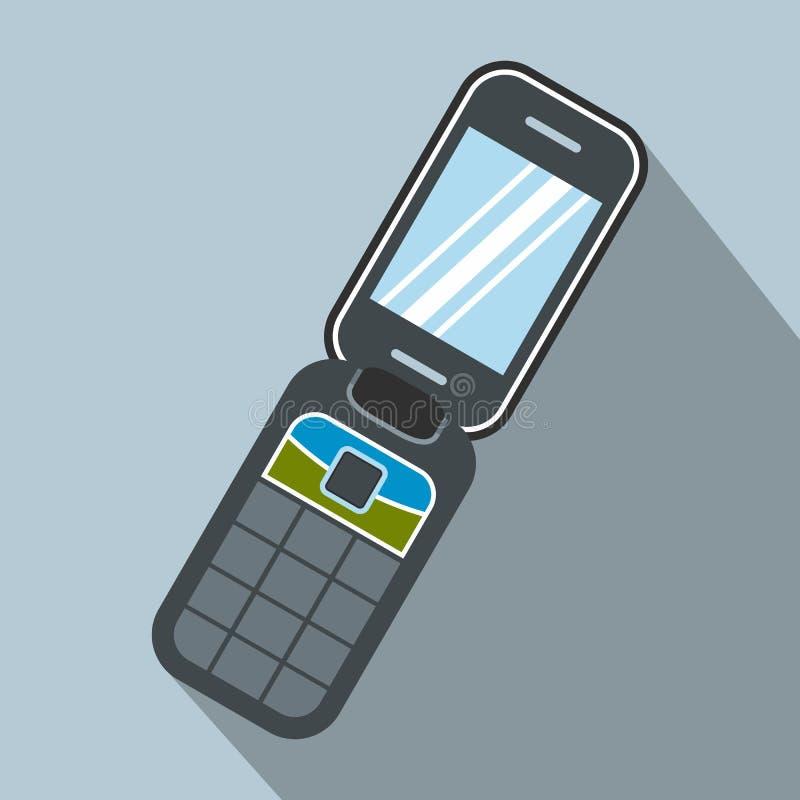 蛤壳状机件handphone平的象 皇族释放例证