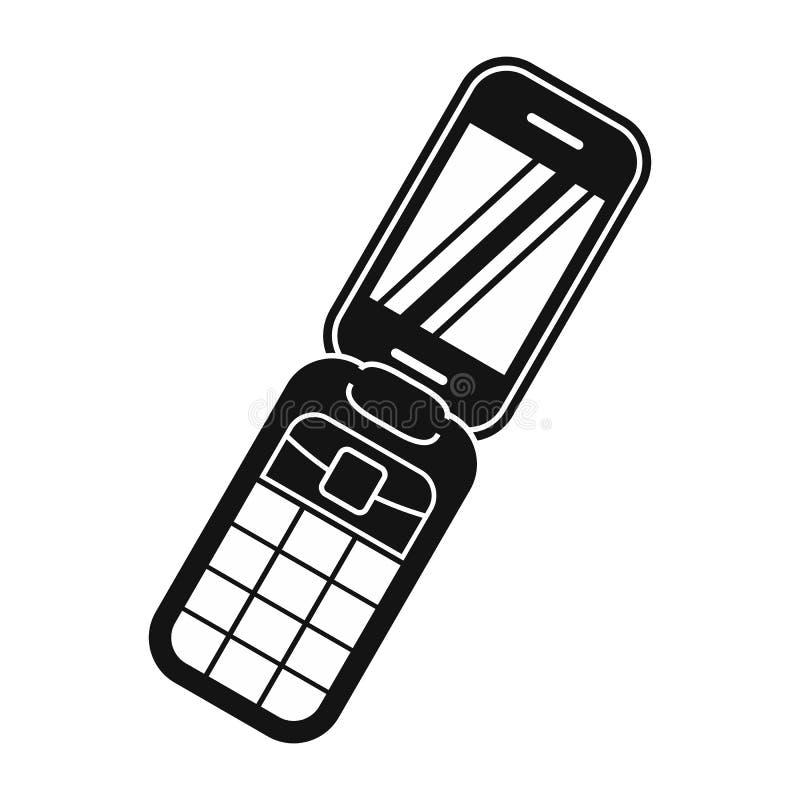 蛤壳状机件handphone黑色简单的象 向量例证