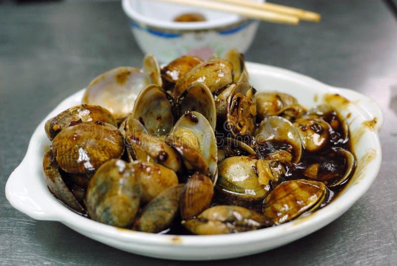 蛤蜊海鲜 免版税库存照片