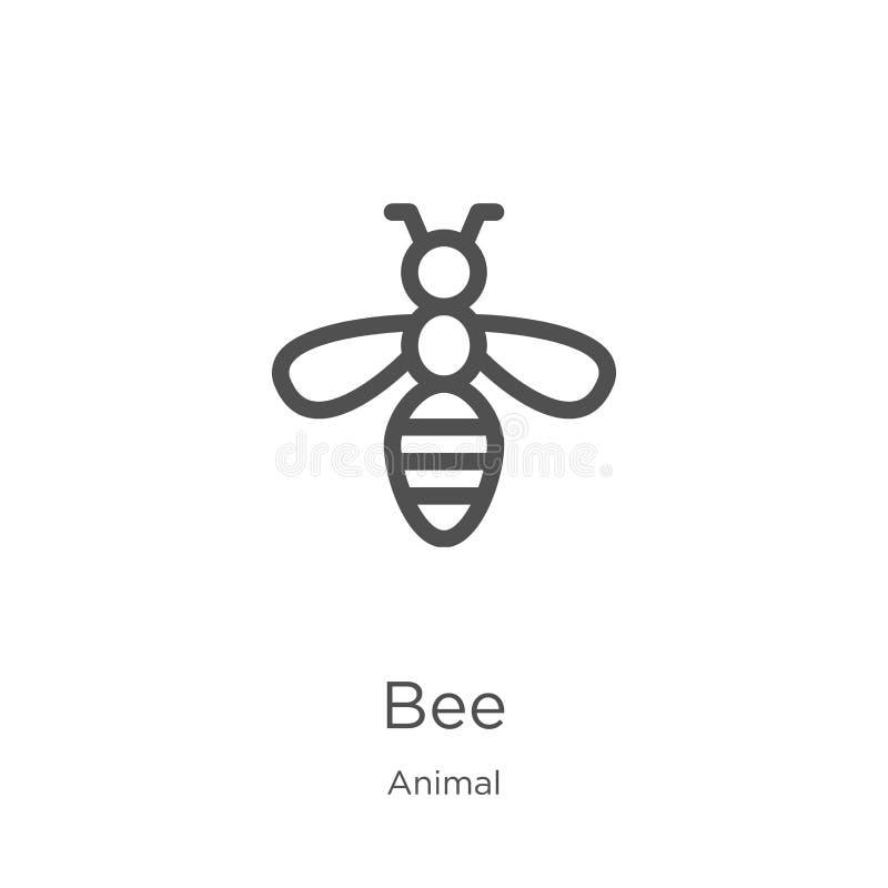 蜂从动物收藏的象传染媒介 稀薄的线蜂概述象传染媒介例证 概述,稀薄的线网站的蜂象 库存例证
