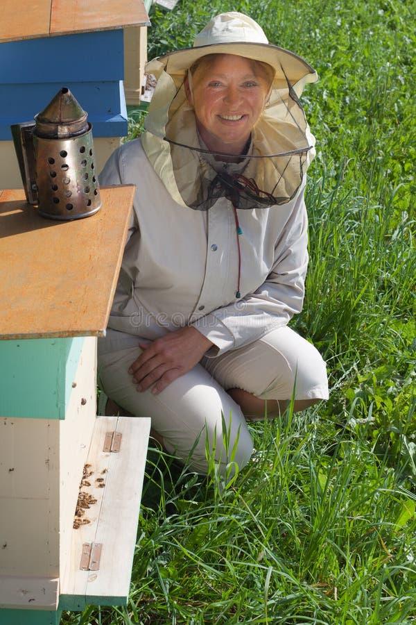 蜂农。 免版税库存图片