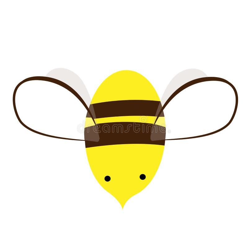 蜂商标或象传染媒介设计 乱画手拉的蜂 逗人喜爱的印刷品 向量例证