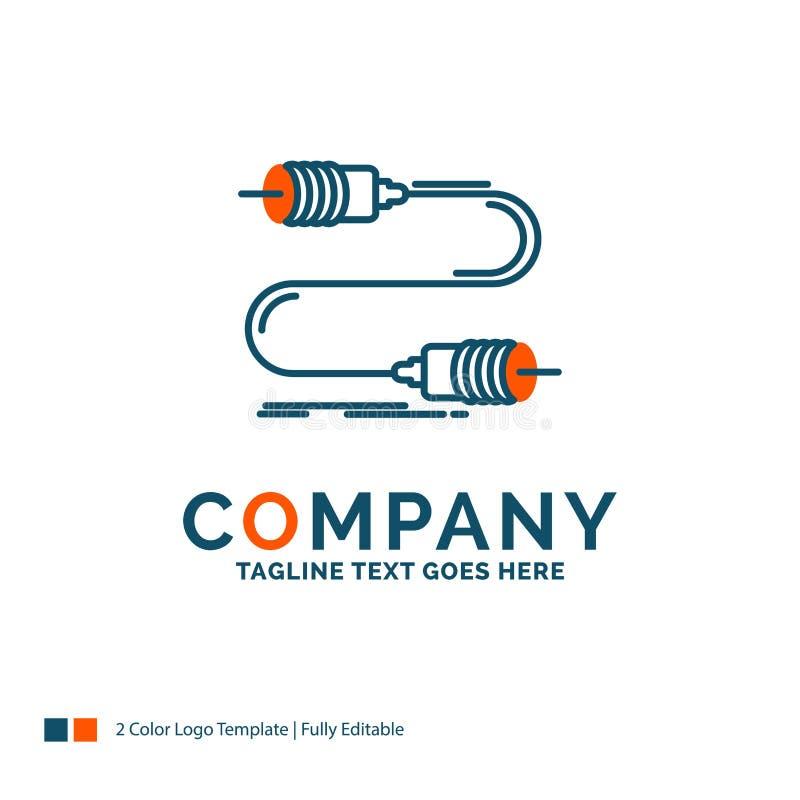 蜂声,通信,互作用,营销,导线商标设计 B 向量例证
