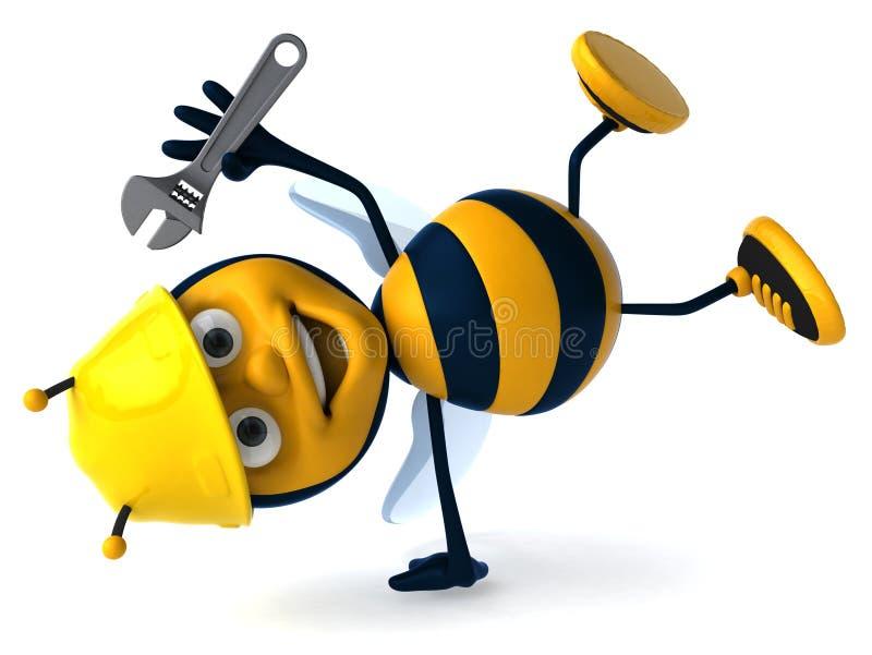 蜂工作 皇族释放例证