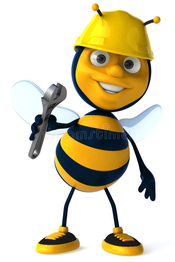 蜂工作 库存例证