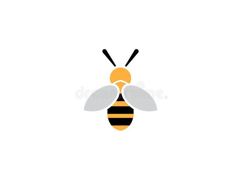 蜂开放翼和为商标设计飞行 向量例证