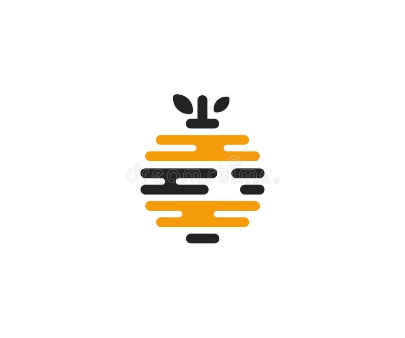 蜂房商标模板 蜂箱传染媒介设计 皇族释放例证