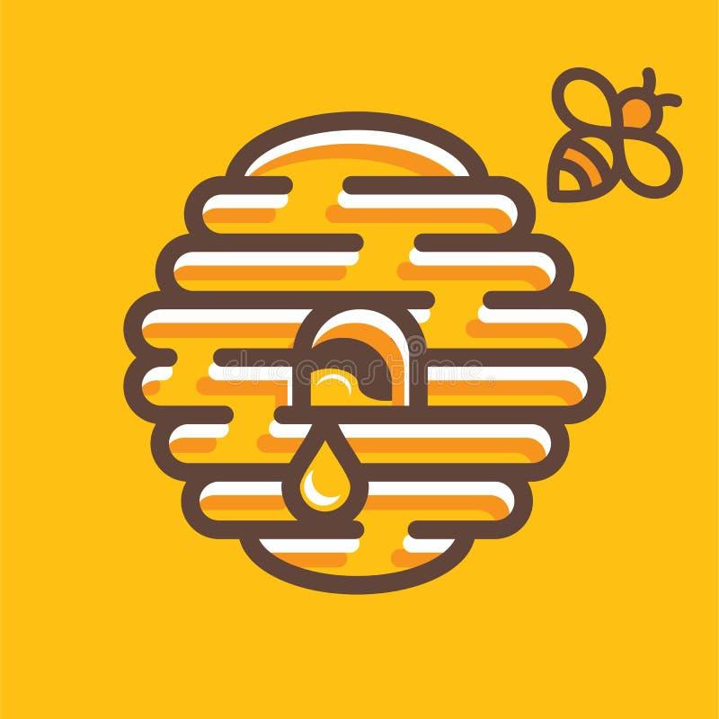 蜂房商标 向量例证