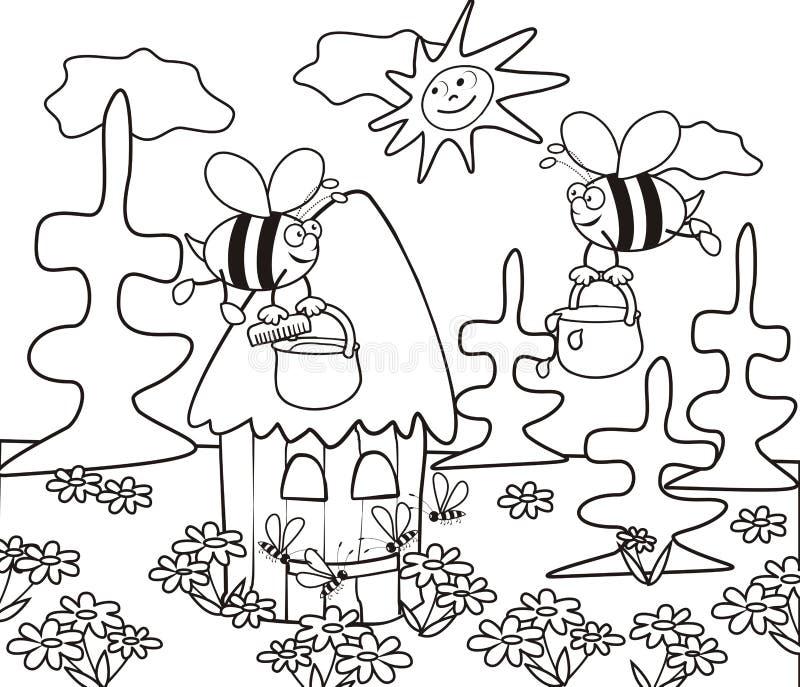蜂房着色书 皇族释放例证