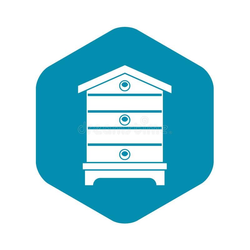 蜂房象,简单的样式 库存例证