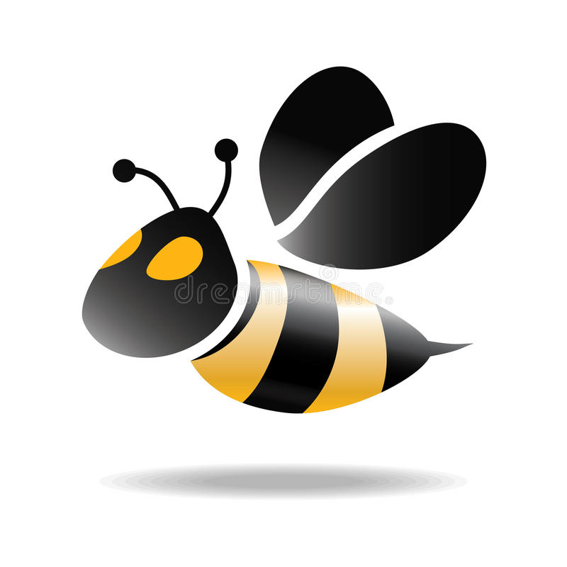 蜂的标志 库存例证