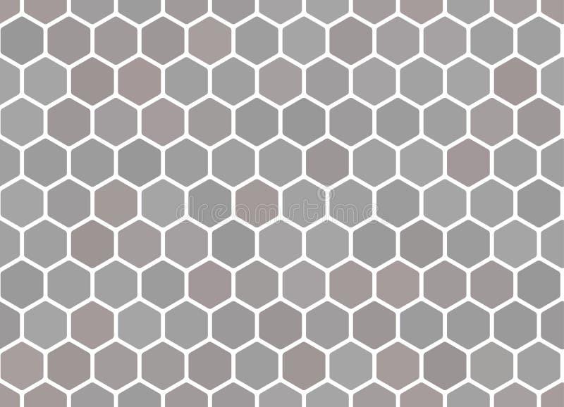 蜂窝无缝的灰色背景 卡片或横幅的传染媒介例证 向量例证