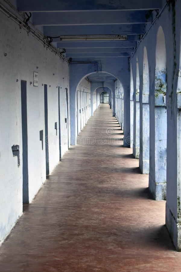 蜂窝电话走廊监狱 库存照片
