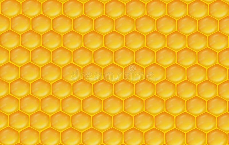 蜂窝背景 蜂窝橙黄色例证背景 库存例证