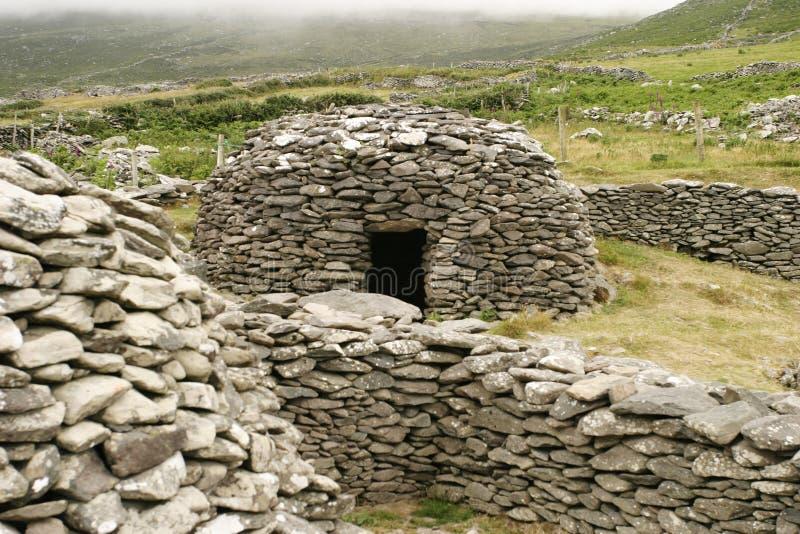 蜂箱房子爱尔兰人石头 库存照片