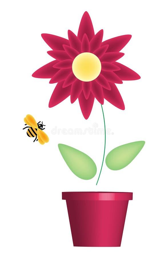 蜂花红色 向量例证
