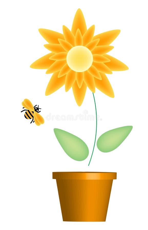 蜂花黄色 库存例证