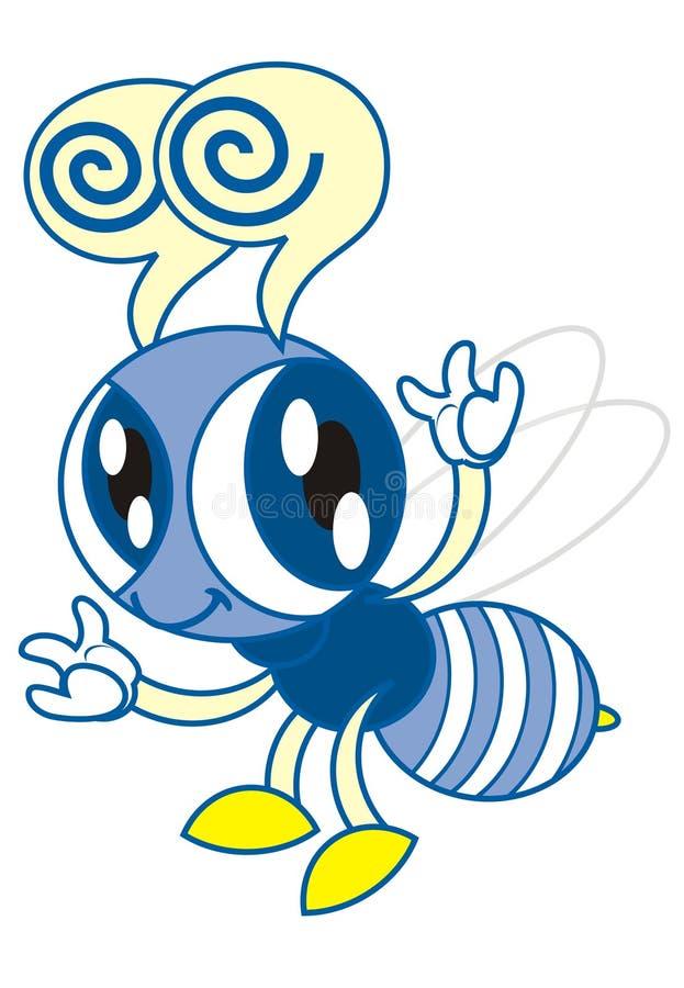 蜂蓝色 免版税库存图片