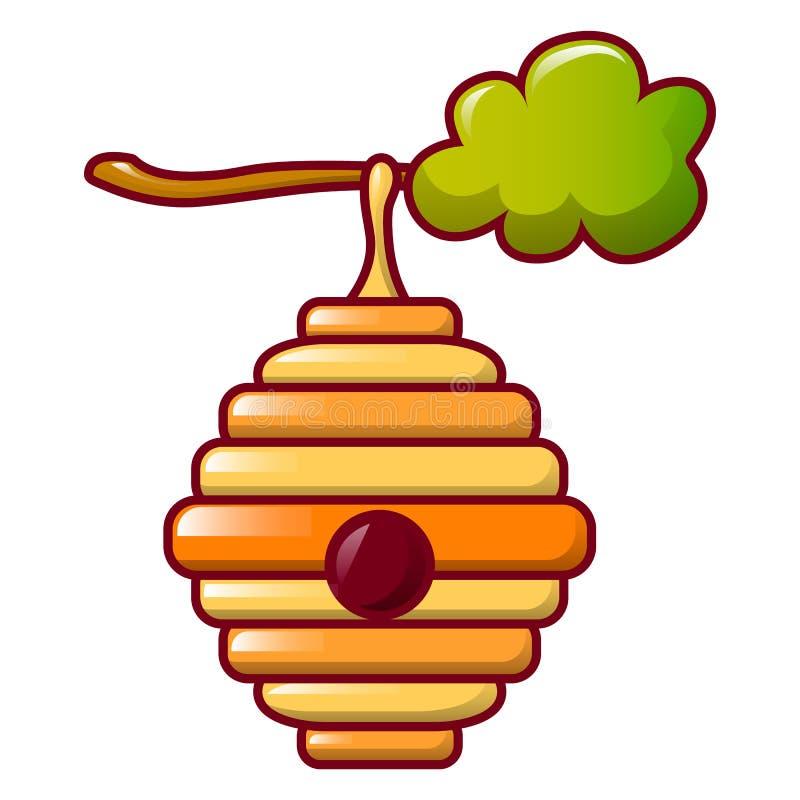 蜂蜂房象,动画片样式 库存例证