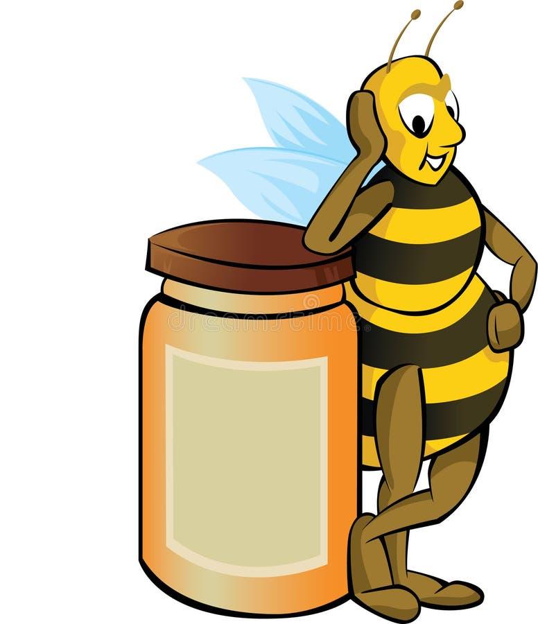 蜂蜂蜜 皇族释放例证