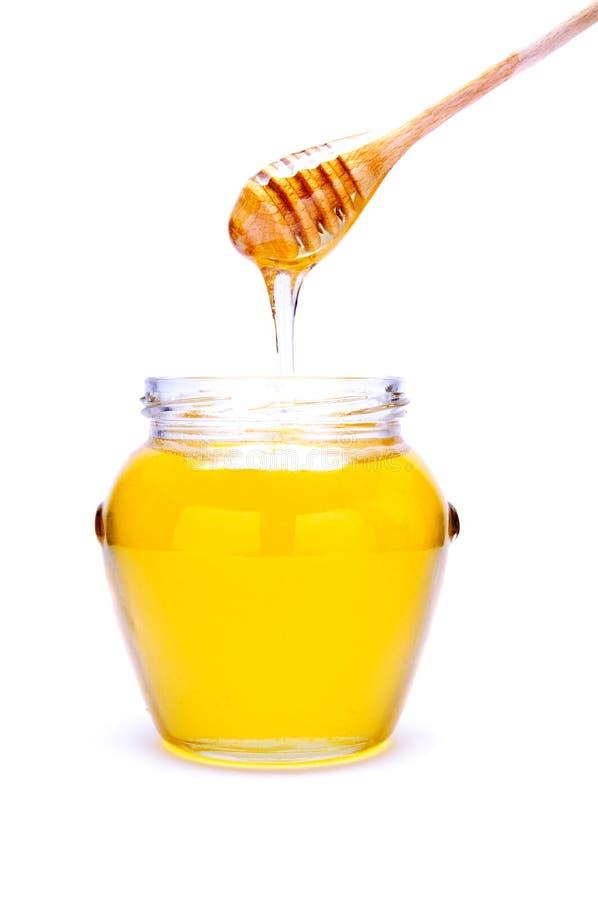 蜂蜜倾吐 免版税库存图片