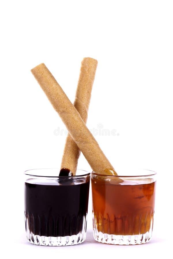 蜂蜜和巧克力 免版税库存图片