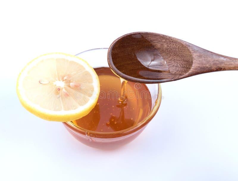 蜂蜜和柠檬 免版税库存图片