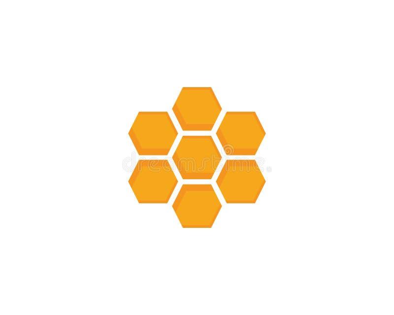 蜂蜜商标模板设计传染媒介,象征,设计观念 库存例证