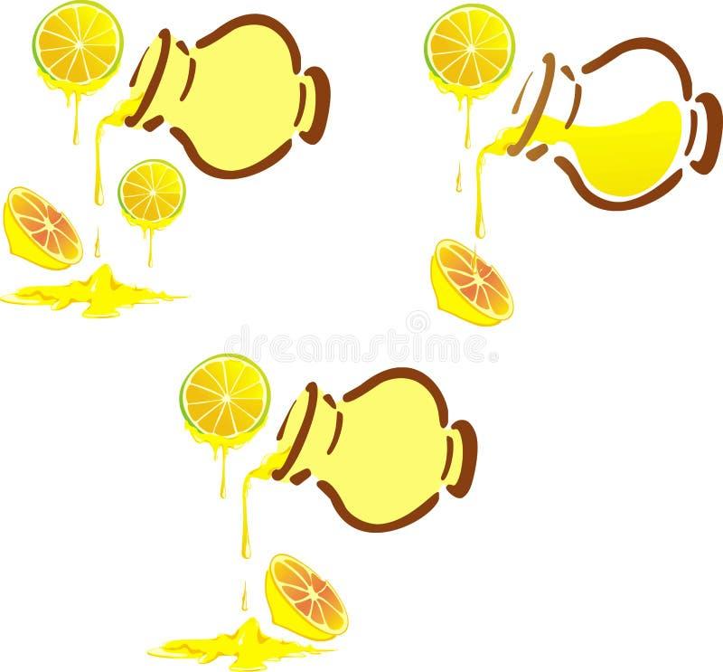 蜂蜜柠檬罐 皇族释放例证