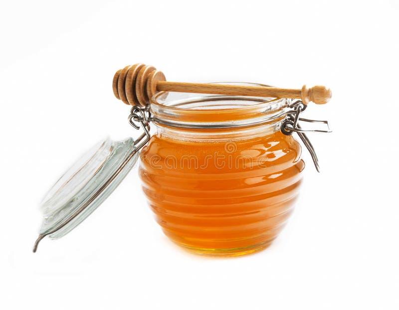 蜂蜜查出的瓶子 库存图片