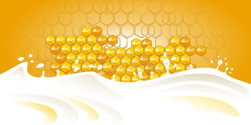 蜂蜜牛奶 库存照片